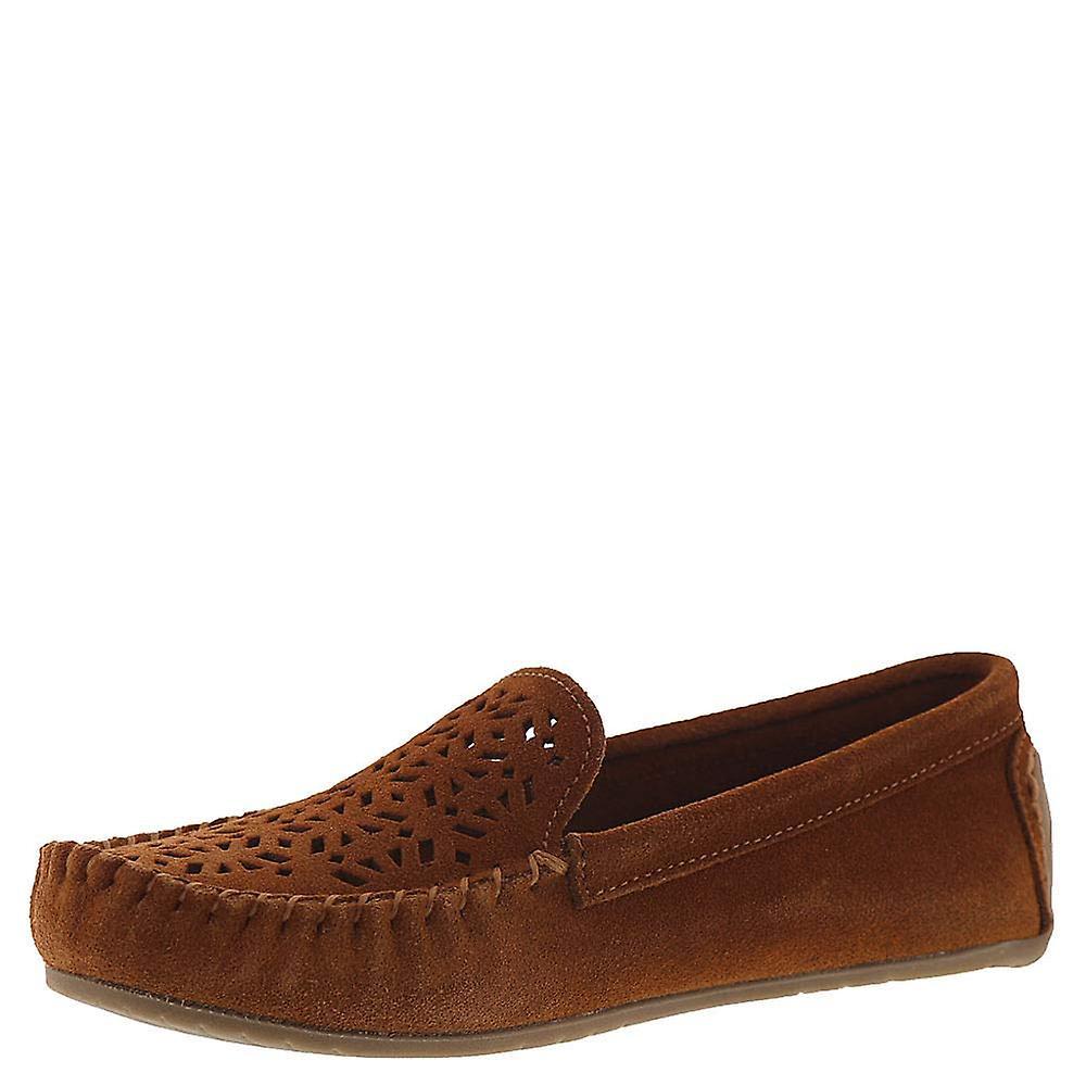 Minnetonka Womens Leather Round Toe Loafers