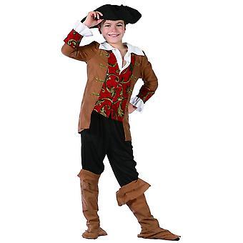 Déguisement pirate garçon marron et noir