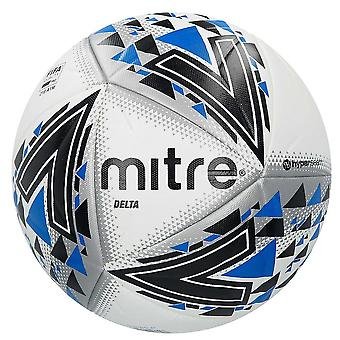 Mitre Delta FIFA Quality Football Soccer Ball White/Black/Blue