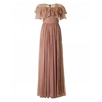 Forever Unique Collection Ruffle Detail Maxi Dress