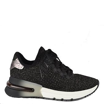 Ash KRUSH BIS Trainers Black Knit & Silver