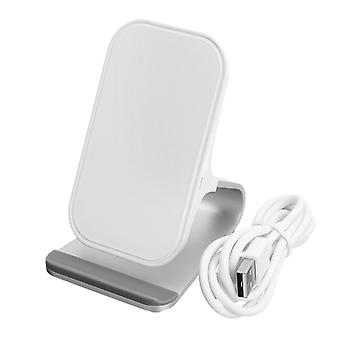 Universal metal 10w fast qi wireless charging dock desktop holder stand for iphone 8 x mobile phone