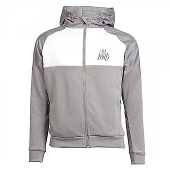 Kings Will Dream Junior Yedlon Grey/White Zip Up Hoody Sweatshirt J566