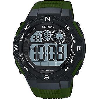 Pulsar Green Rubber Strap Uomo's Allarme Cronografo R2321LX9