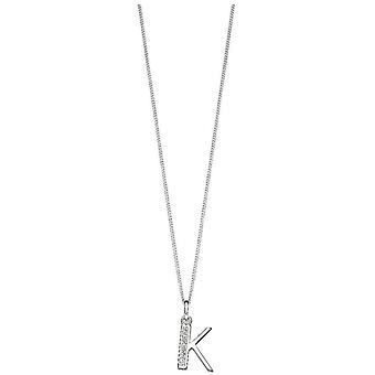 Principios Art Deco K inicial colgante - Plata