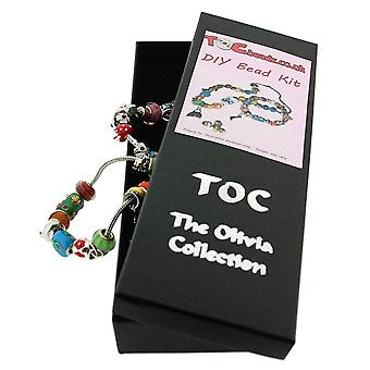 Toc Beadz D-I-Y Make-Your-Own Bead Necklace and Bracelet Kit Gift Set