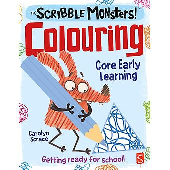 Scribble Monsters Colouring by Carolyn Scrace