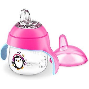 Avent Lekvrije Pinguin Beker 200 ml Roze