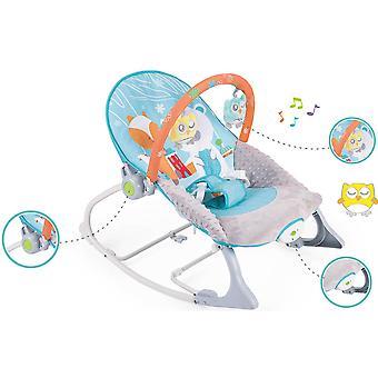 Moni Baby rocker Foxy 63569 swing function, vibration, play sheet, music function