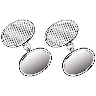 Orton West Sterling Silver Chain Link Cufflinks - Silver