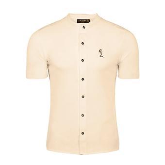 Religie 10tobh51 Orbit Half Mouw Grandad Collar Shirt
