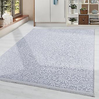 Wasbare rug effen kleur modern barok patroon antislip zacht zacht in grijs