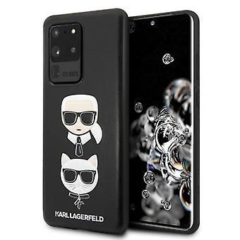 KARL LAGERFELD Karl & Choupette Backcover Hoesje Samsung Galaxy S20 Ultra - Zwart