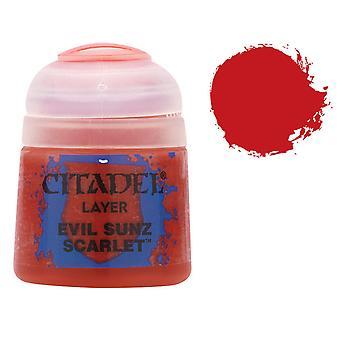 Warhammer Citadel lager måla onda Jocke Scarlet 12 ml