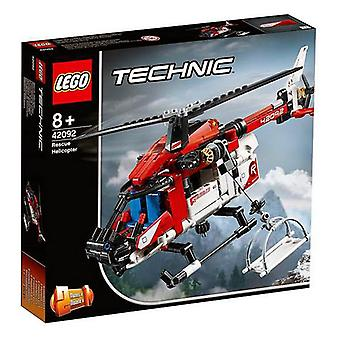Playset Technic Reddingshelikopter Lego 42092