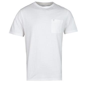 Farah Edwards Modern Fit valkoinen tasku T-paita