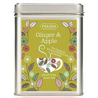 Praana Tea - Ginger And Apple Fruit Infusion - Gift Tin -100g