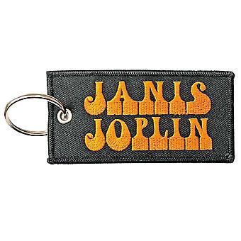 Janis Joplin Keyring Keychain Patch Band Logo new Official Black