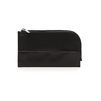 Rick Owens Rb19s0300lnp09 Men's Black Leather Wallet