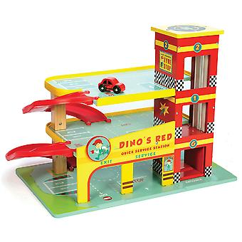 Le Toy Van Cars & Construction Dino's Garage
