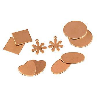 Kupfer Blanks Gemischtes Set, Grundformen Mix