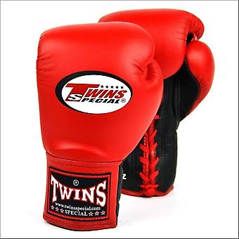 Twins special lace-up boxing gloves - red