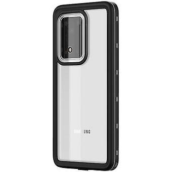 بلاك روك 360 درجة هيرو غطاء سامسونج غالاكسي S20 الترا 5G شفافة، أسود