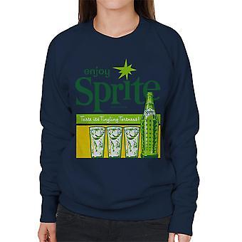 Enjoy Sprite 1960er-Jahre Vintage Soft Drink Women es Sweatshirt