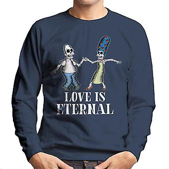 The Simpsons Love Is Eternal Homer & Marge Halloween Men's Sweatshirt