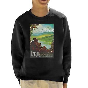 NASA Earth Interplanetary Travel Poster Kid's Sweatshirt