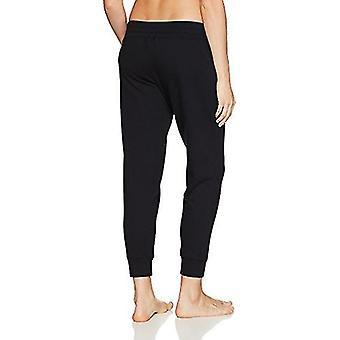 Merk - Mae Women's Loungewear Wide Waist Jogger Pant, Black, M
