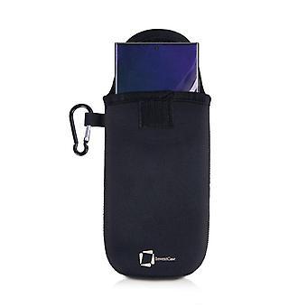InventCase Neoprene Funda de la caja con mosquetón para Samsung Galaxy Note 20 Ultra - Negro