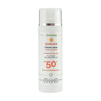 Facial and Body Sun Cream SPF 50+ with Mineral Filters None
