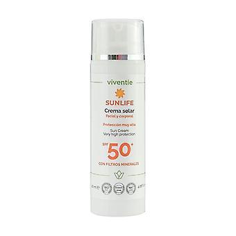 Crema Solar Facial y Corporal SPF 50+ con Filtros Minerales 120 ml de crema