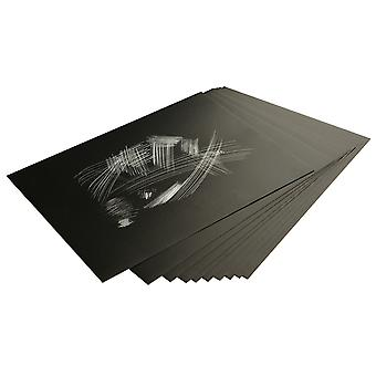 Essdee Silver Foil Scraperboard 229x152mm 10 Pack