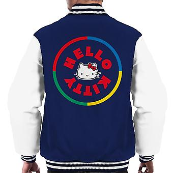 Hello Kitty flerfarget sirkel menn's Varsity jakke