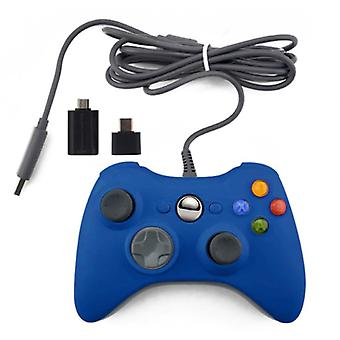 Stuff Certified® Gaming Controller for Xbox 360 / PC - Gamepad with Vibration Blue