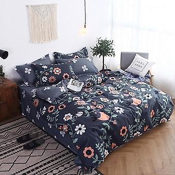 Geometric 4Pcs Soft Cotton Children's & Adult Duvet Cover Bed Sheets And Pillowcases Comforter Bedding Set