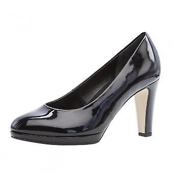 Gabor رائع X الكلاسيكية الأحذية المحكمة منتصف الكعب في براءات الاختراع السوداء (2.5-7.5)