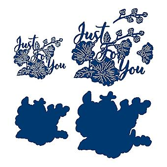 Tattered Lace Just for You Sentiment Die Set