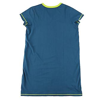 Lazy One Sloth VNS397 Women's Blue Cotton Nightshirt