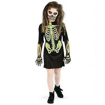 Skelett Zombie Halloween Kinderkostüm Gerippe