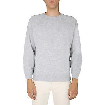 Brunello Cucinelli M3609218ck773 Men's Grey Wool Sweater