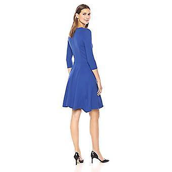 Merkki - Lark & Ro Women's Three Quarter Sleeve Neule sopii ja soihtu mekko, Koboltti, Medium