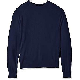 BUTTONED DOWN Men's 100% Premium Cashmere Crewneck Sweater, Midnight Navy, XX...