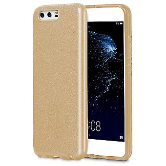 Case for Huawei P10 Plus Shiny Lxy Bling Fancy Silicone Soft Glitter Yellow