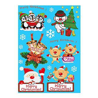 YANGFAN Christmas Decorations Static PVC Reusable Sticker