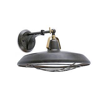 Faro Plec - LED Indoor / Outdoor Dome Wall Licht Antieke Bruine IP44