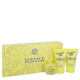 Versace Yellow Diamond Gift Set By Versace 0.17 oz Mini EDP + 0.8 oz Body Lotion + 0.8 oz Shower Gel