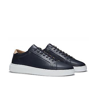 Uniform Standard Series 8 Navy Leather Trainers